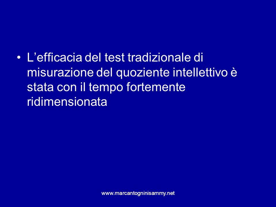 L'efficacia del test tradizionale di misurazione del quoziente intellettivo è stata con il tempo fortemente ridimensionata