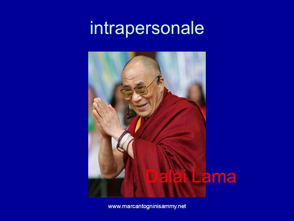 intrapersonale Dalai Lama www.marcantogninisammy.net