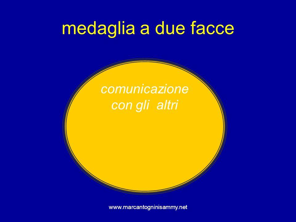 medaglia a due facce comunicazione con gli altri