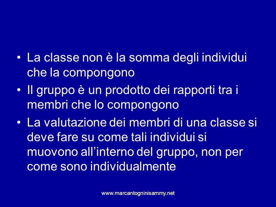 La classe non è la somma degli individui che la compongono