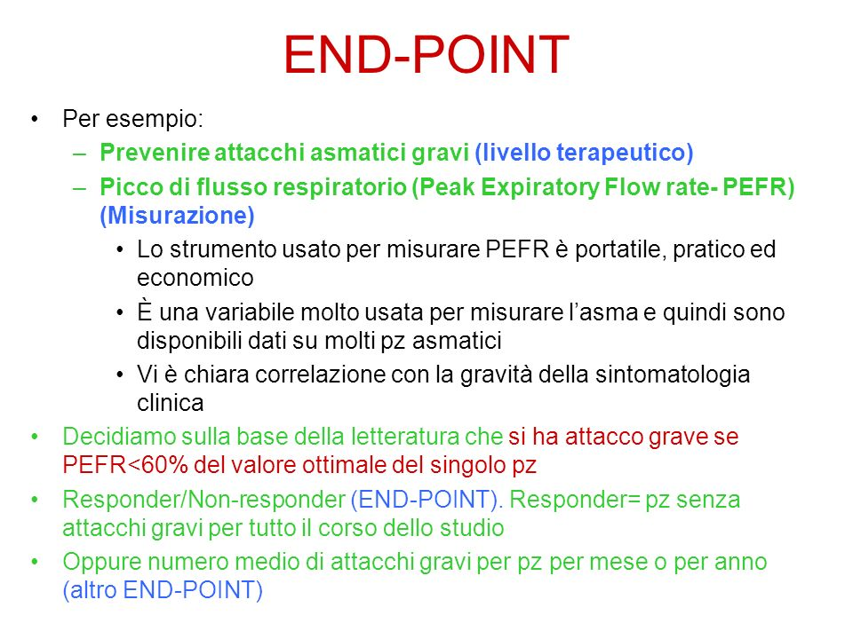 END-POINT Per esempio: