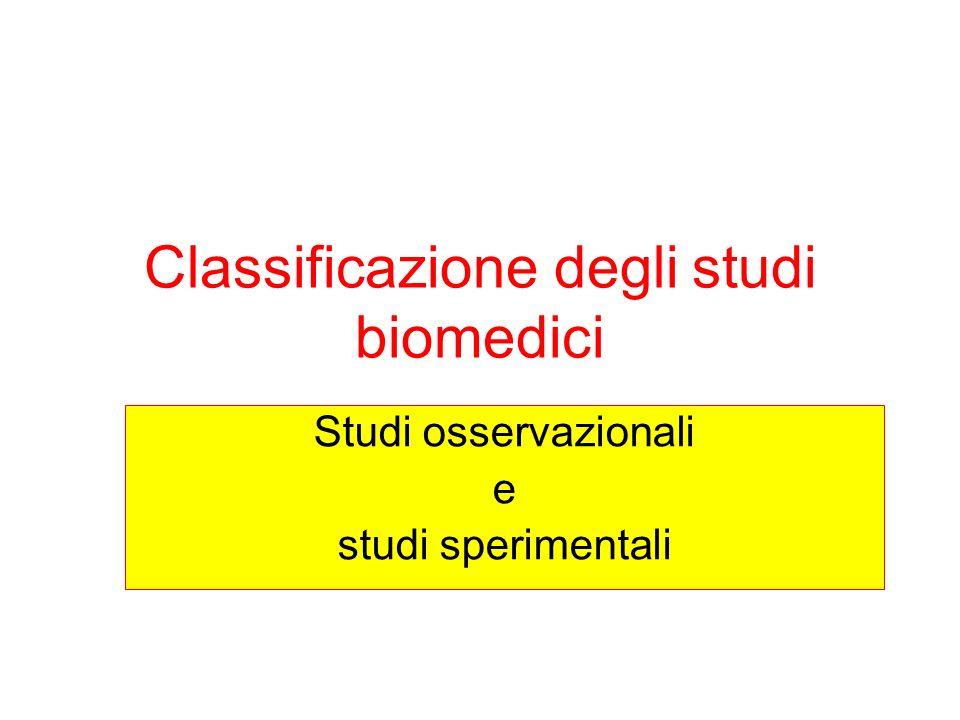 Classificazione degli studi biomedici