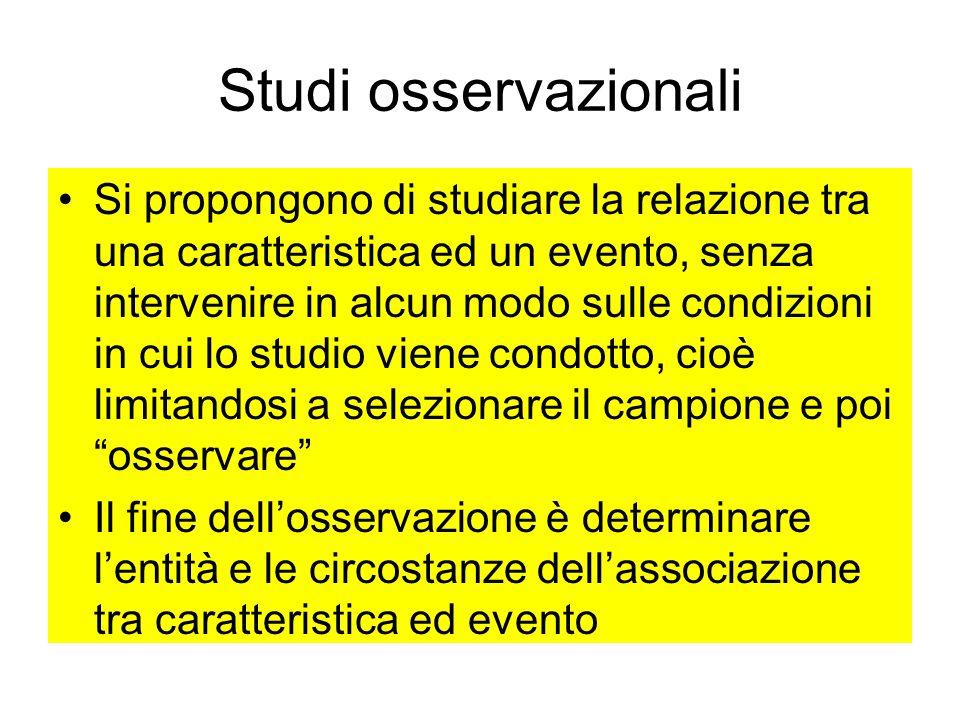 Studi osservazionali