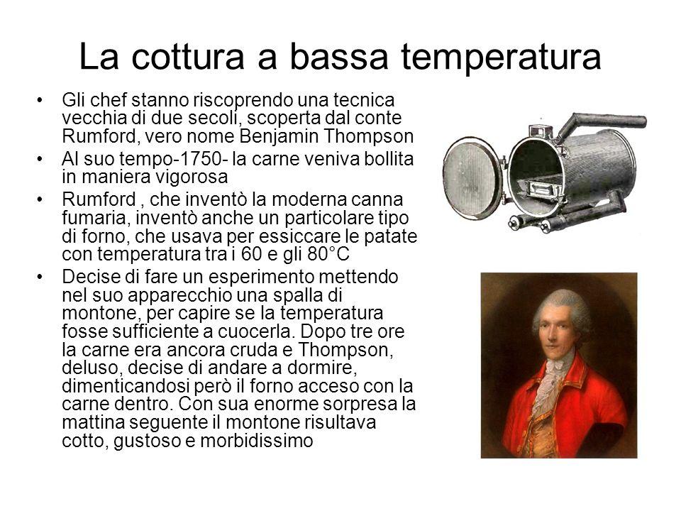 La cottura a bassa temperatura