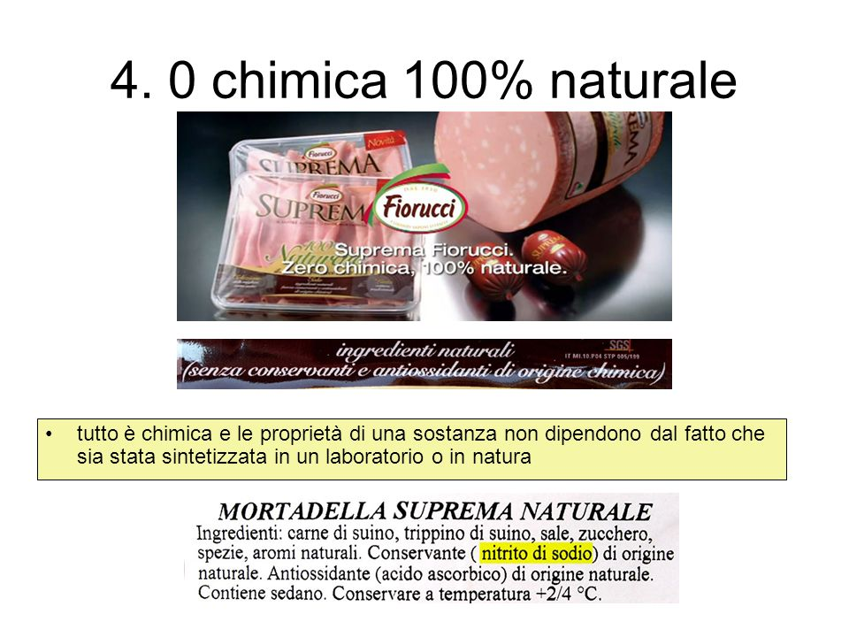 4. 0 chimica 100% naturale