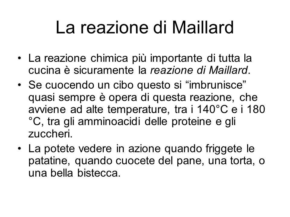 La reazione di Maillard