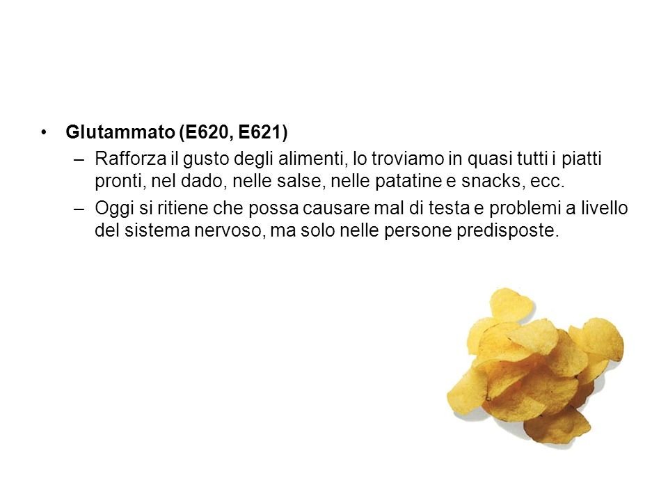 Glutammato (E620, E621)