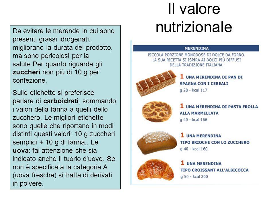 Il valore nutrizionale