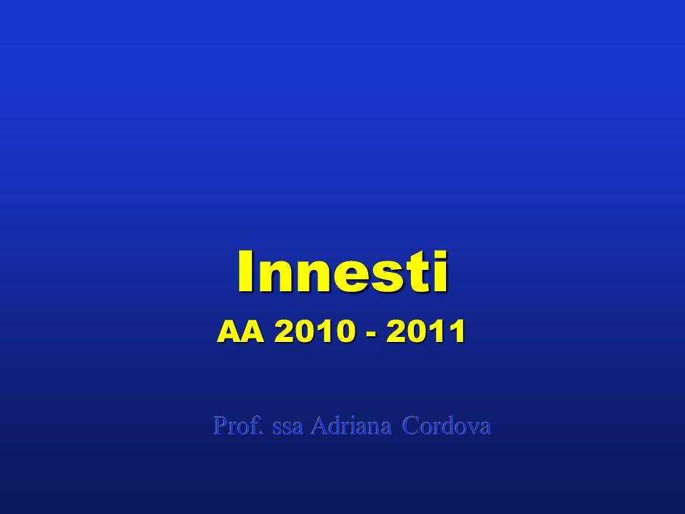 Innesti AA 2010 - 2011 Prof. ssa Adriana Cordova