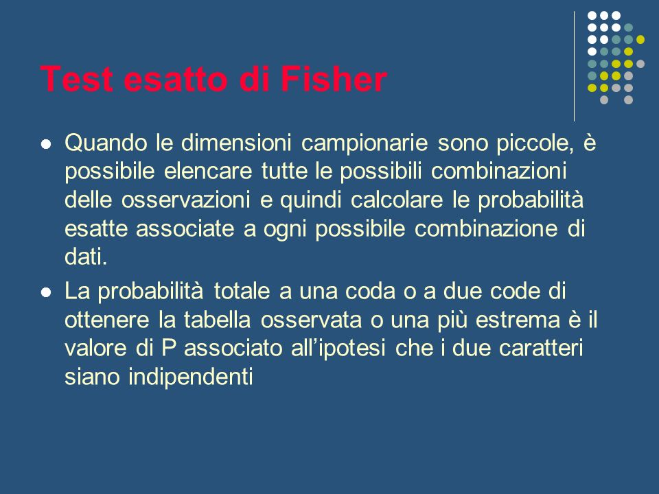 Test esatto di Fisher