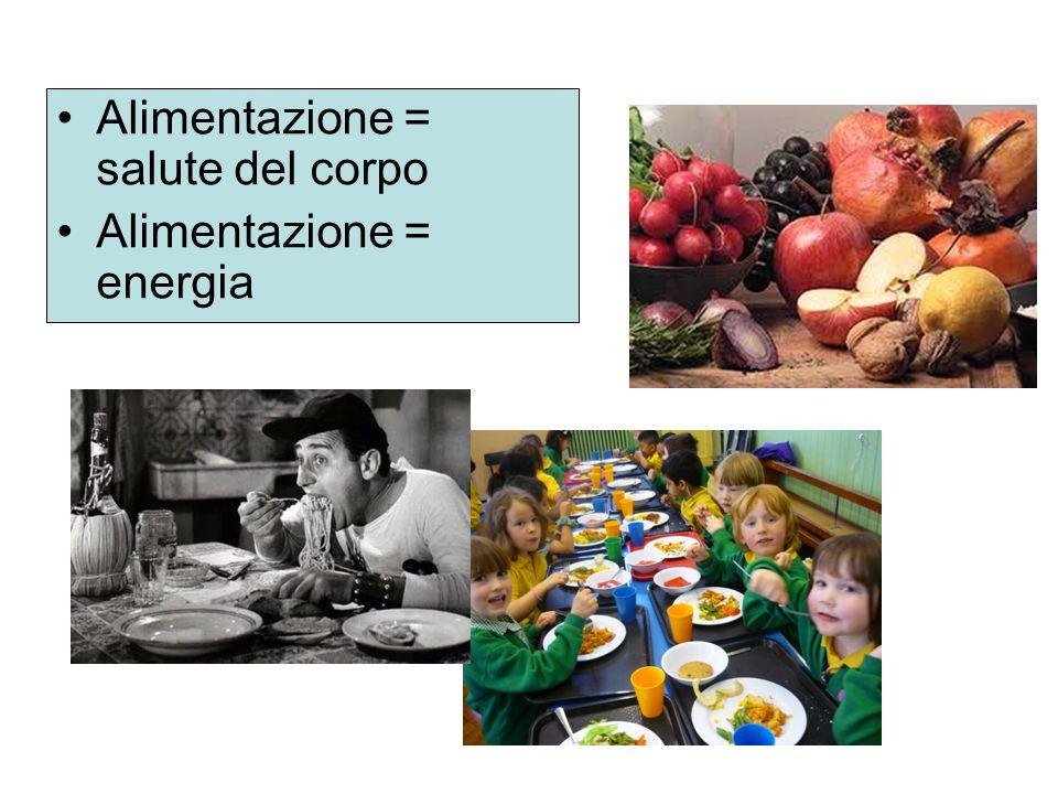 Alimentazione = salute del corpo