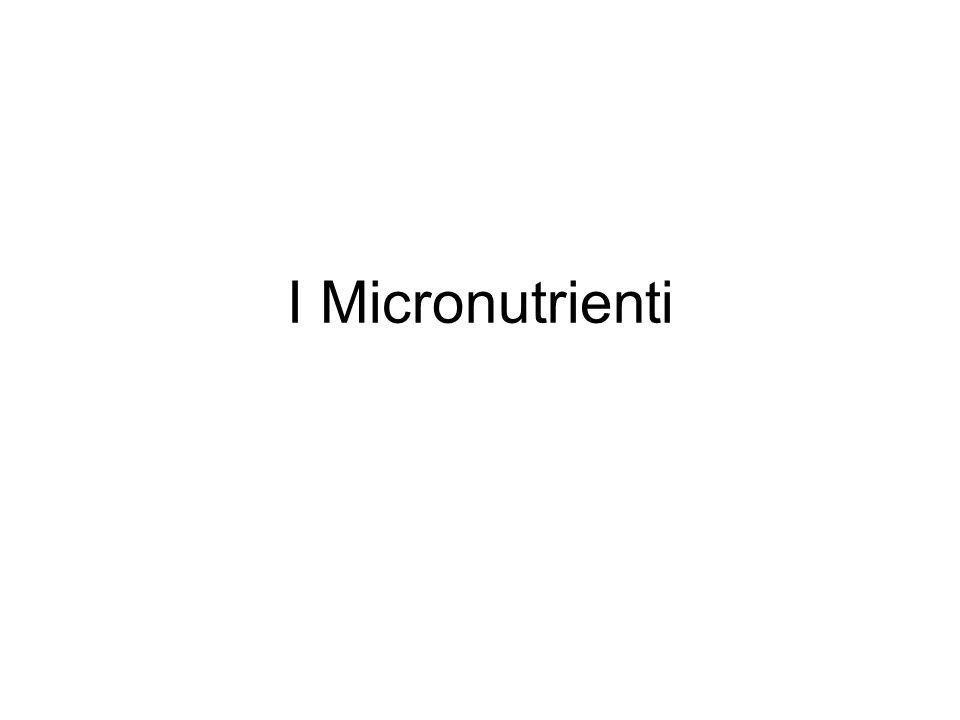 I Micronutrienti