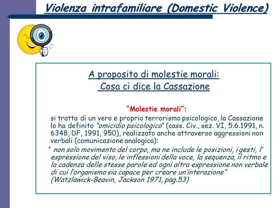 Violenza intrafamiliare (Domestic Violence)
