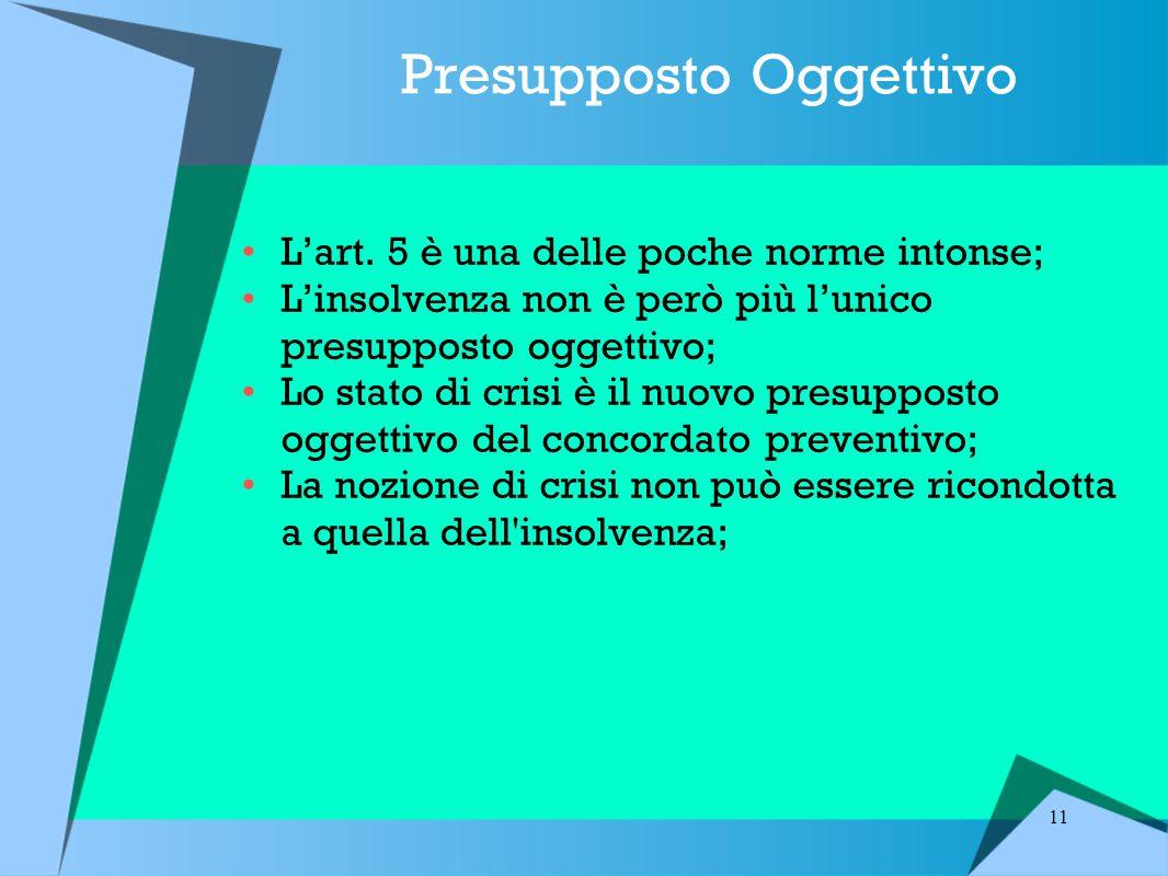 Presupposto Oggettivo