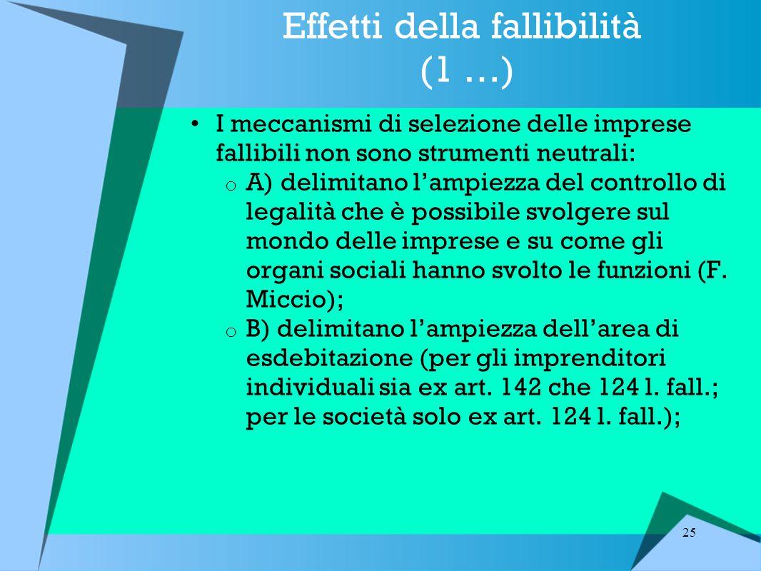 Effetti della fallibilità (1 …)