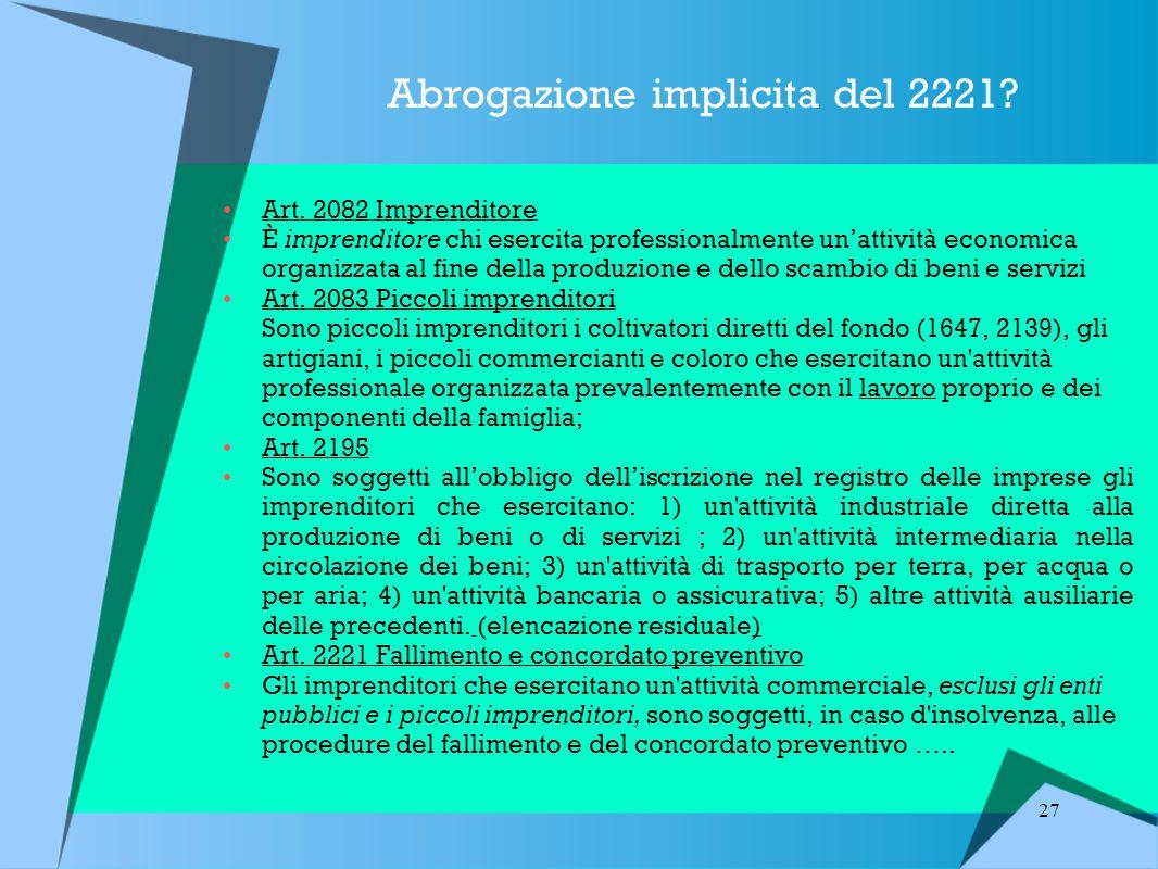 Abrogazione implicita del 2221