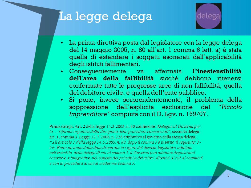 La legge delega