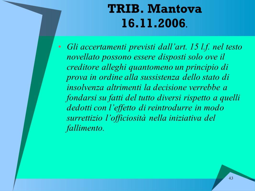 TRIB. Mantova 16.11.2006.