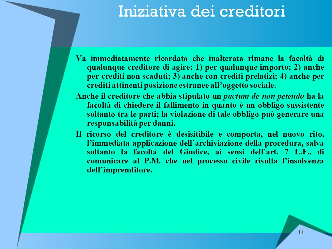 Iniziativa dei creditori