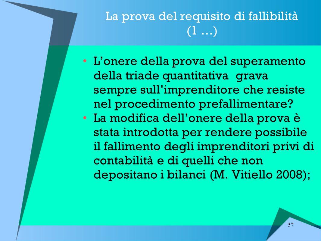 La prova del requisito di fallibilità (1 …)