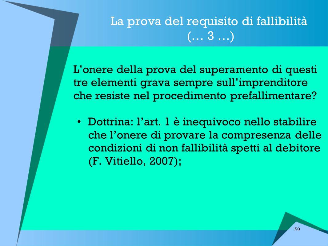 La prova del requisito di fallibilità (… 3 …)