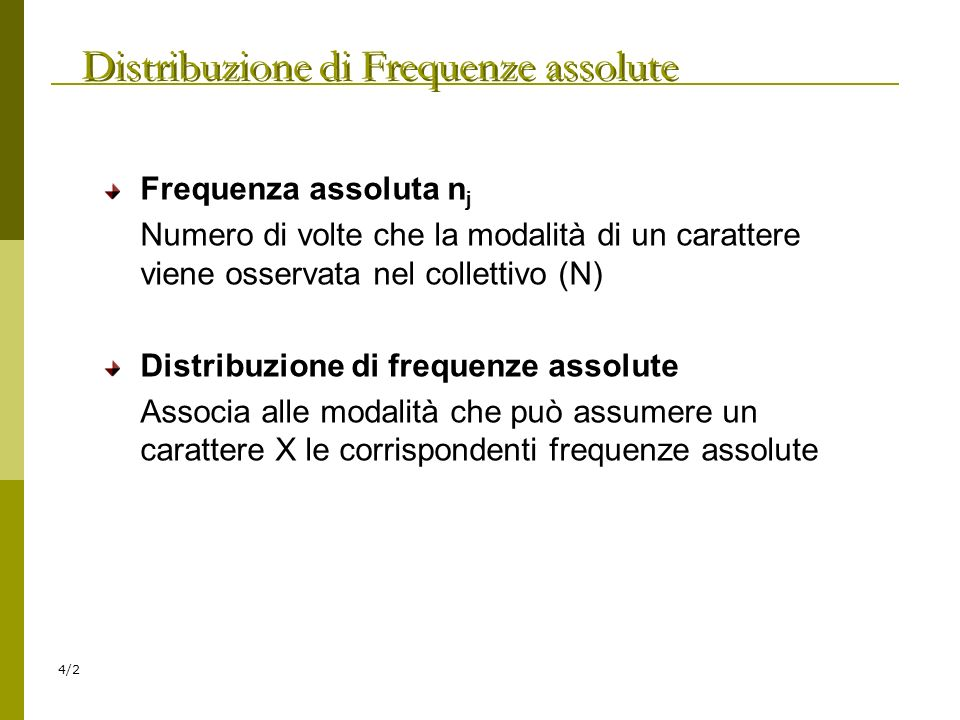 Distribuzione di Frequenze assolute