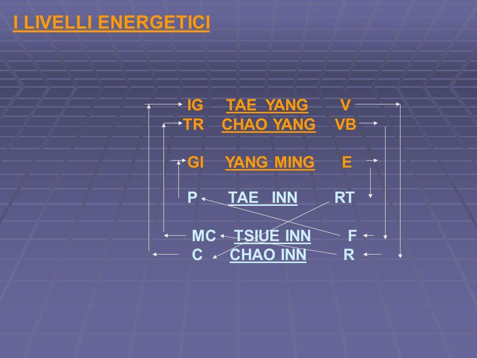 I LIVELLI ENERGETICI IG TAE YANG V TR CHAO YANG VB MC TSIUE INN F