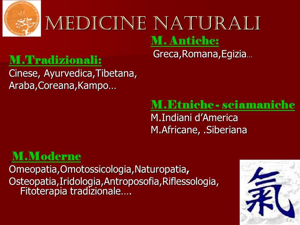 MEDICINE NATURALI M.Tradizionali: M. Antiche: M.Etniche - sciamaniche