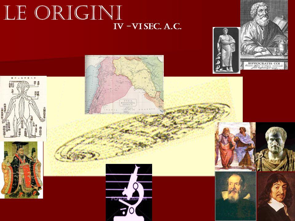 Le Origini IV -VI Sec. a.C.