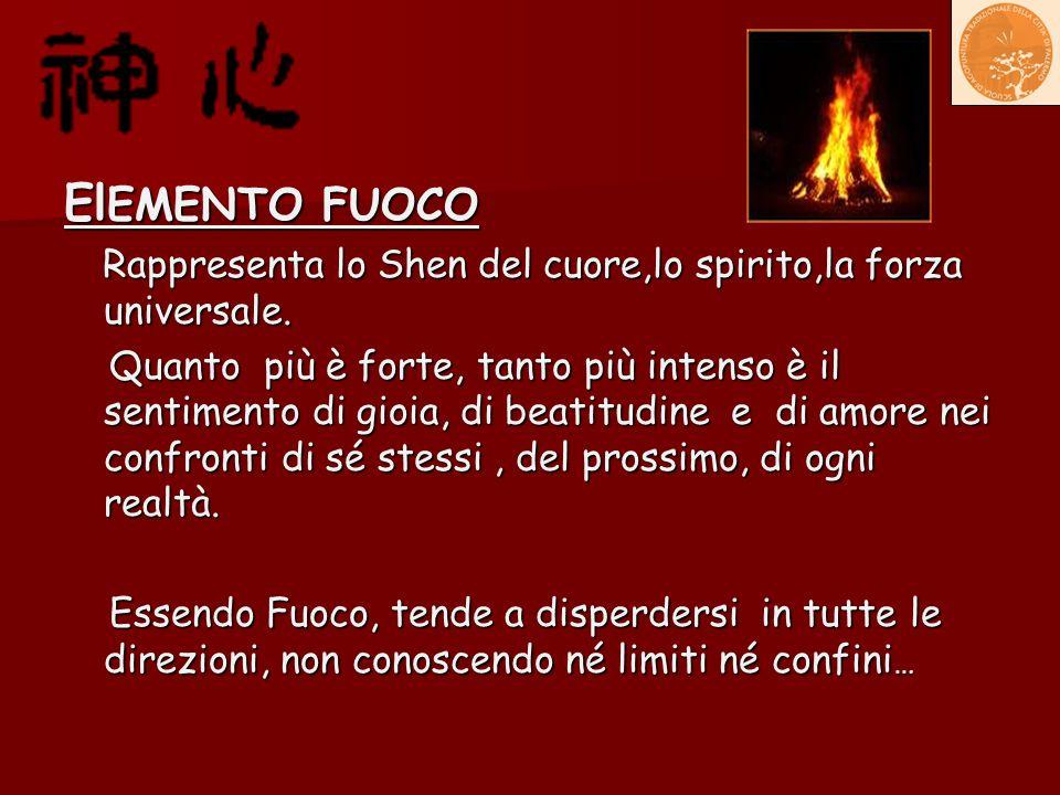 ElEMENTO FUOCO Rappresenta lo Shen del cuore,lo spirito,la forza universale.