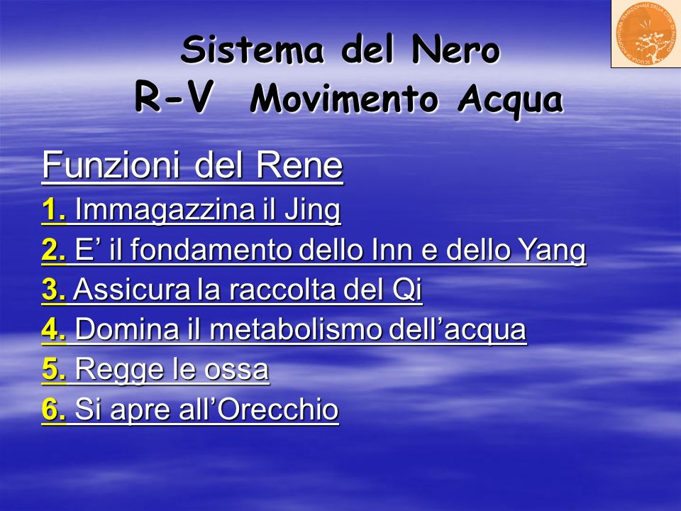 Sistema del Nero R-V Movimento Acqua