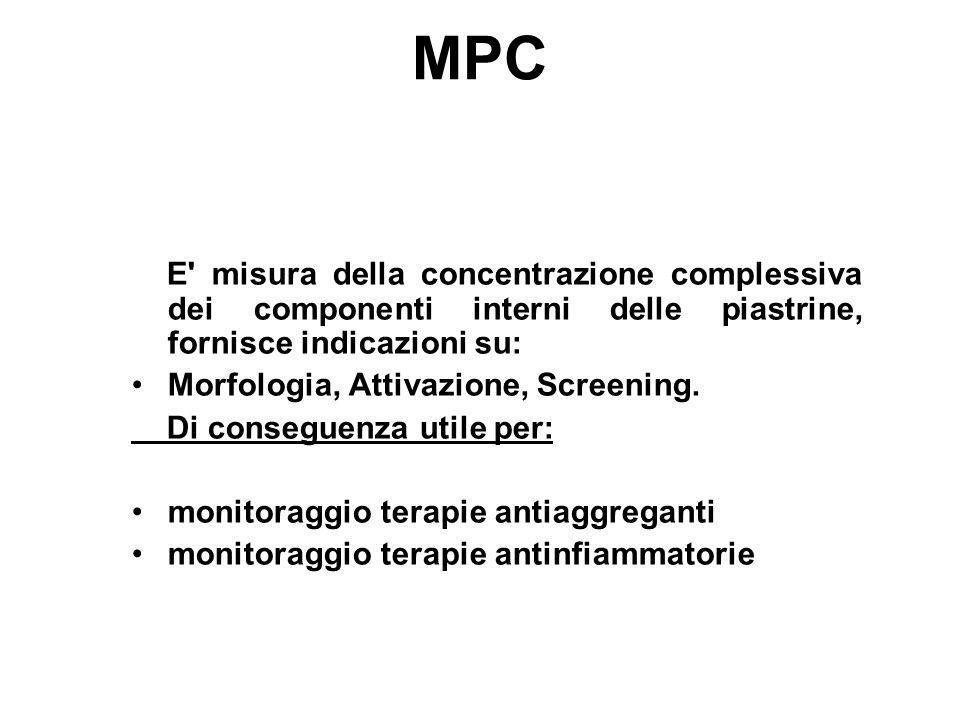 MPC Morfologia, Attivazione, Screening. Di conseguenza utile per: