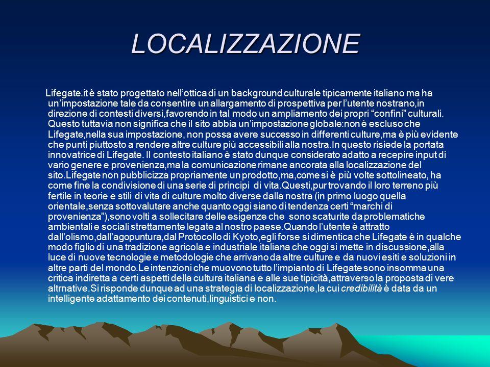 LOCALIZZAZIONE