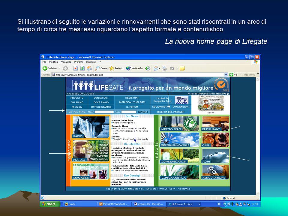 La nuova home page di Lifegate