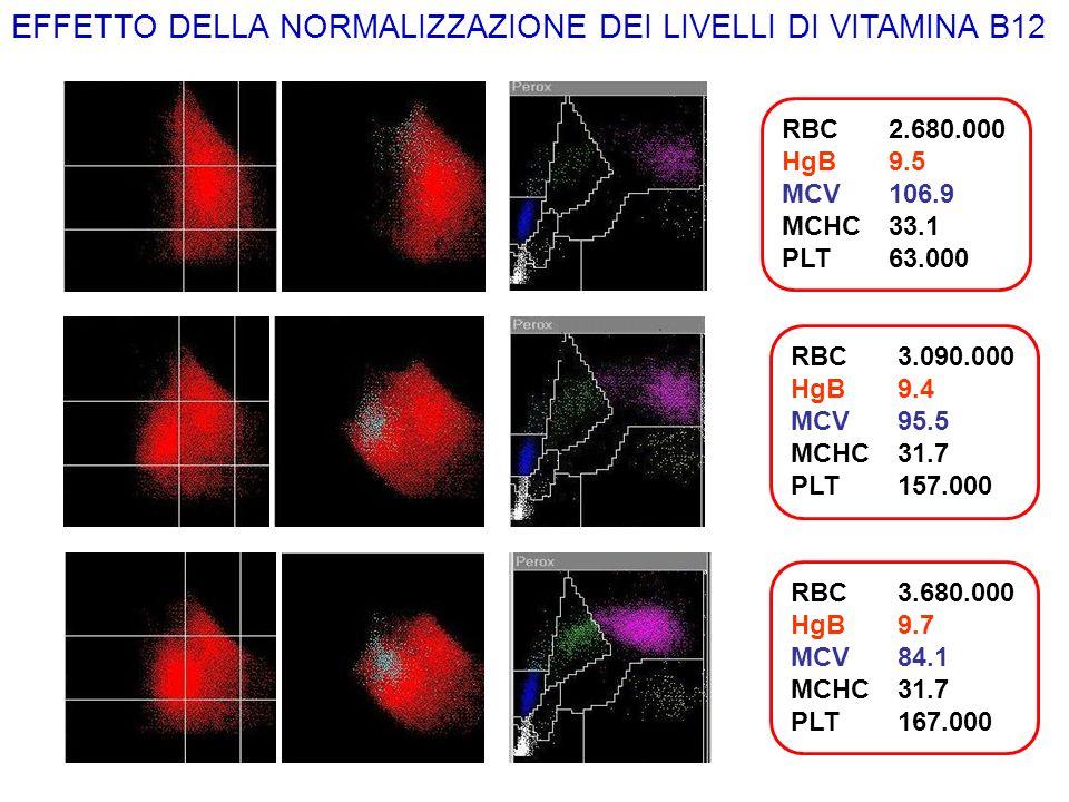 EFFETTO DELLA NORMALIZZAZIONE DEI LIVELLI DI VITAMINA B12
