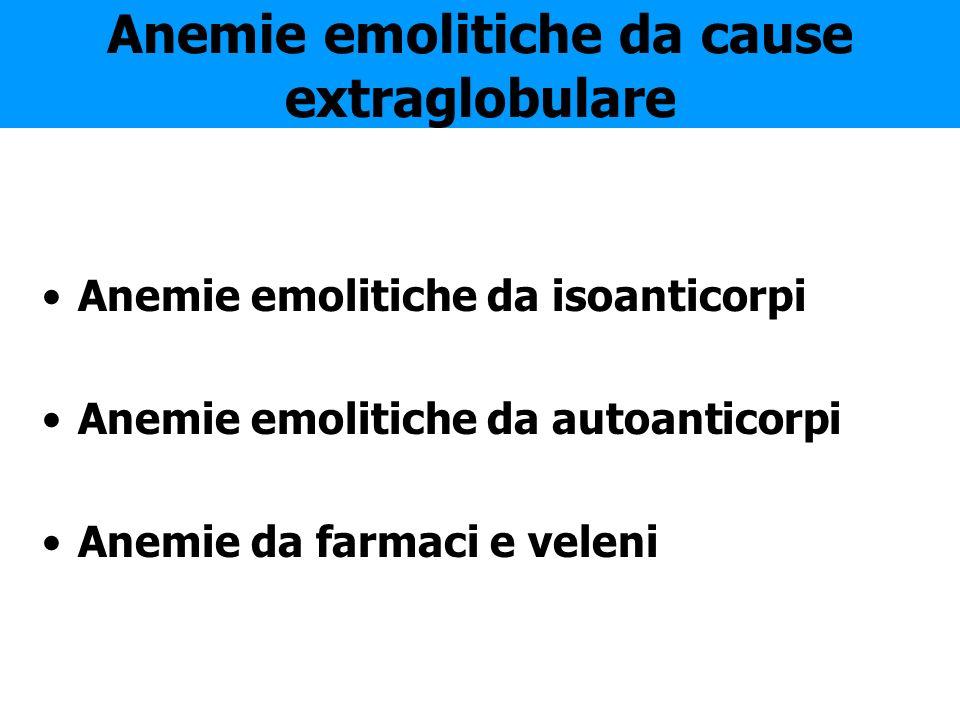 Anemie emolitiche da cause extraglobulare