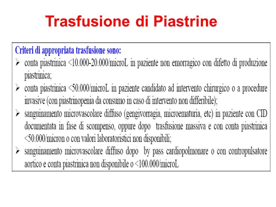 Trasfusione di Piastrine
