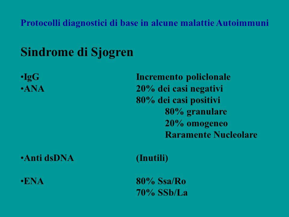 Protocolli diagnostici di base in alcune malattie Autoimmuni