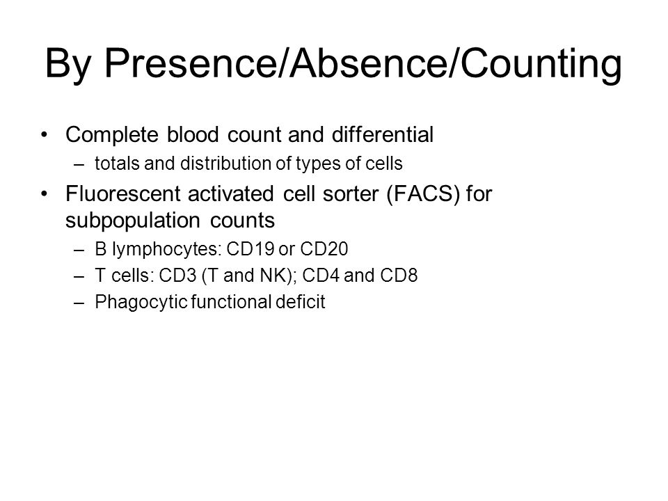 By Presence/Absence/Counting