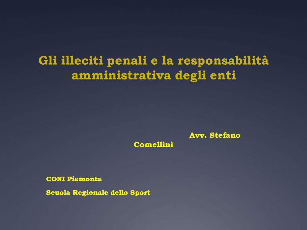 Gli illeciti penali e la responsabilità amministrativa degli enti