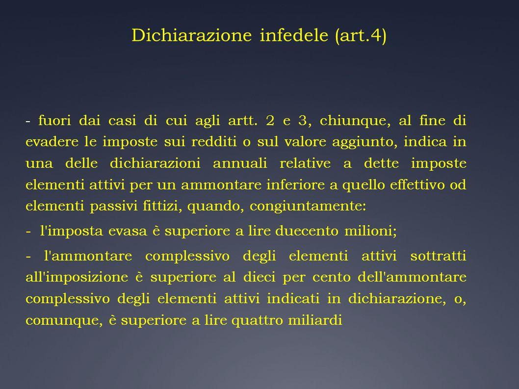 Dichiarazione infedele (art.4)