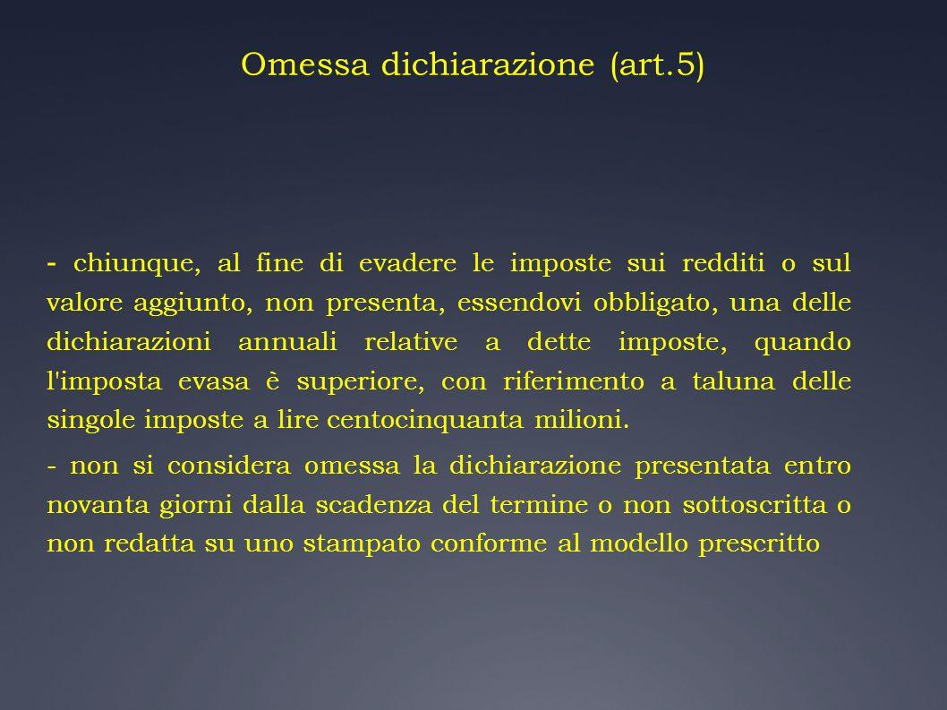 Omessa dichiarazione (art.5)