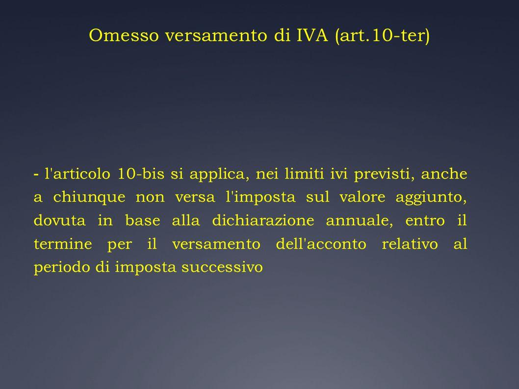Omesso versamento di IVA (art.10-ter)