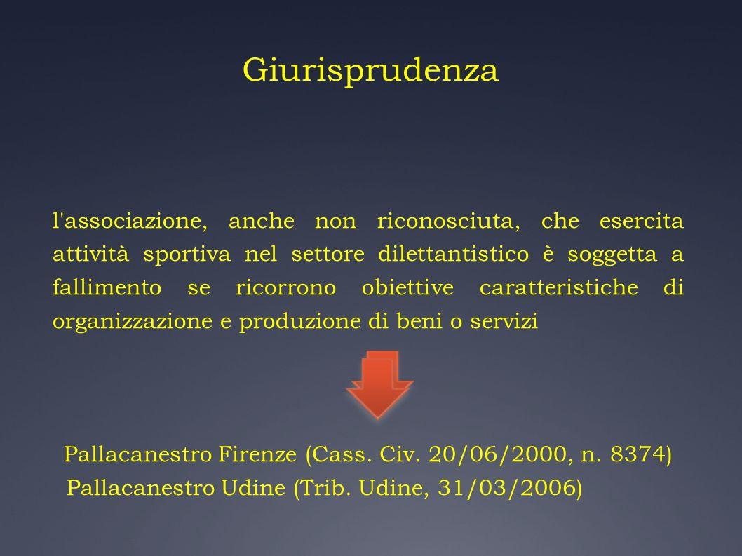 Pallacanestro Firenze (Cass. Civ. 20/06/2000, n. 8374)