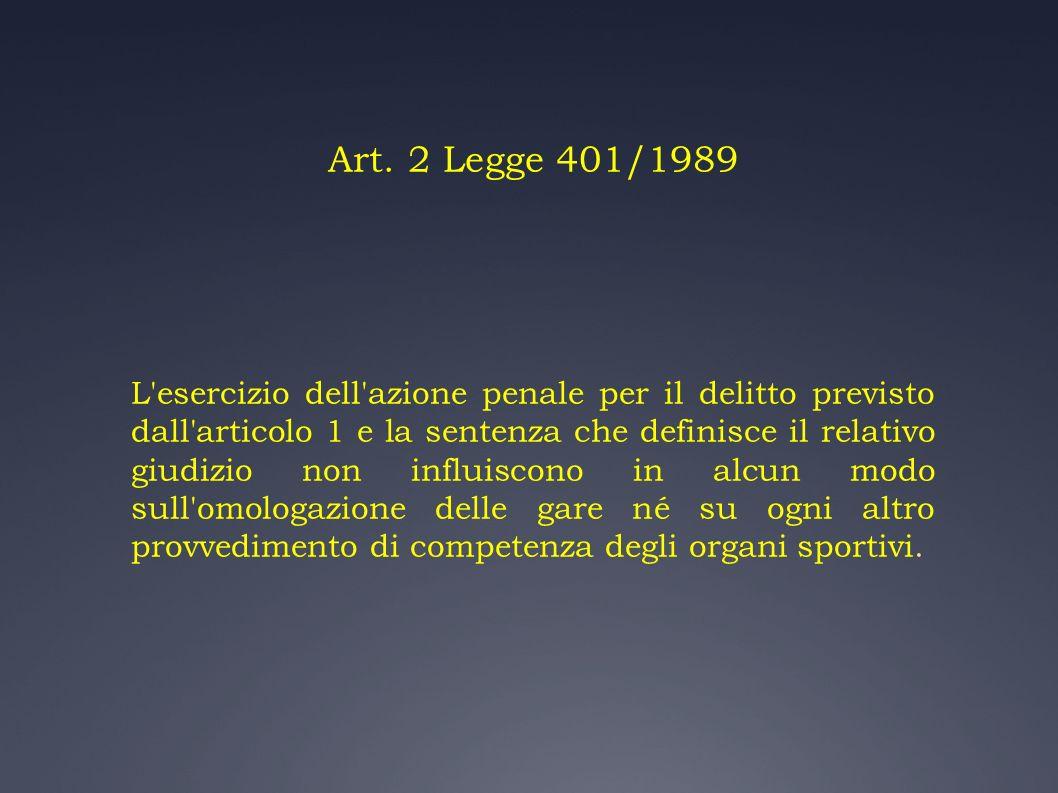 Art. 2 Legge 401/1989