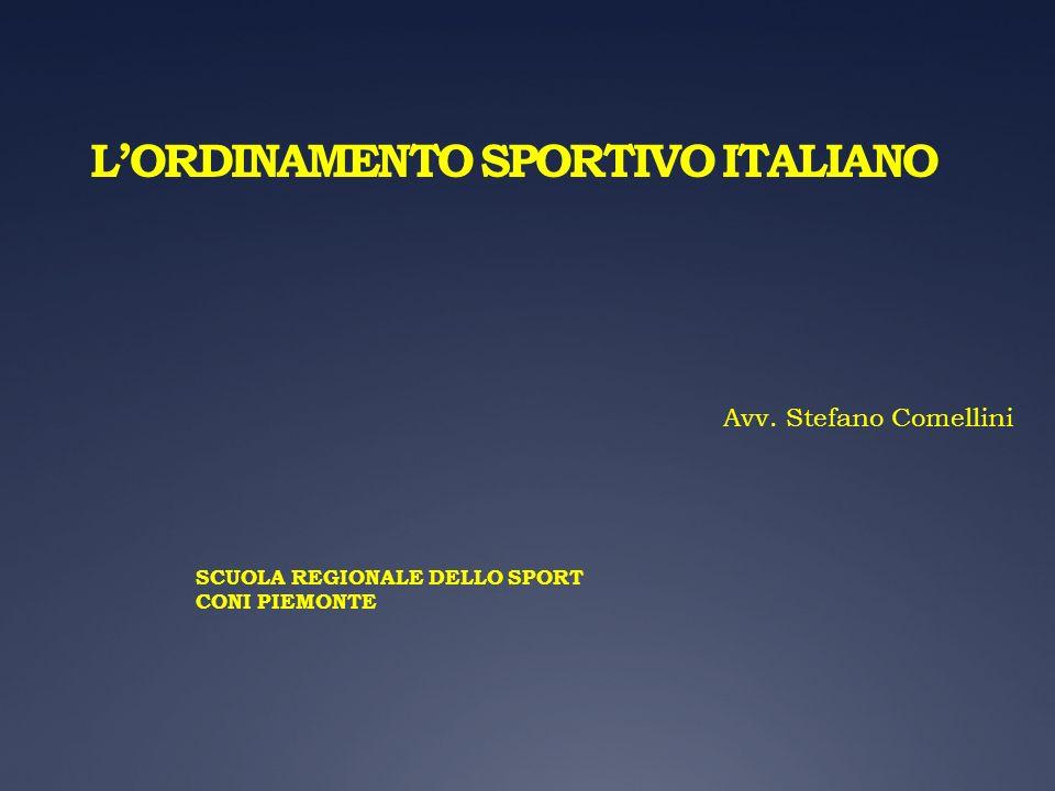 L'ORDINAMENTO SPORTIVO ITALIANO