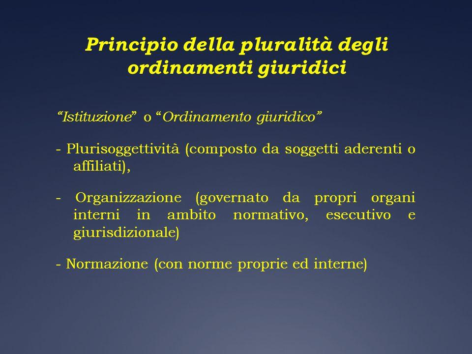 Principio della pluralità degli ordinamenti giuridici