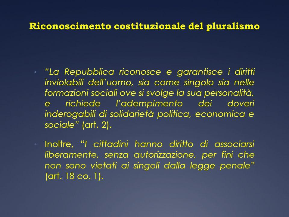 Riconoscimento costituzionale del pluralismo