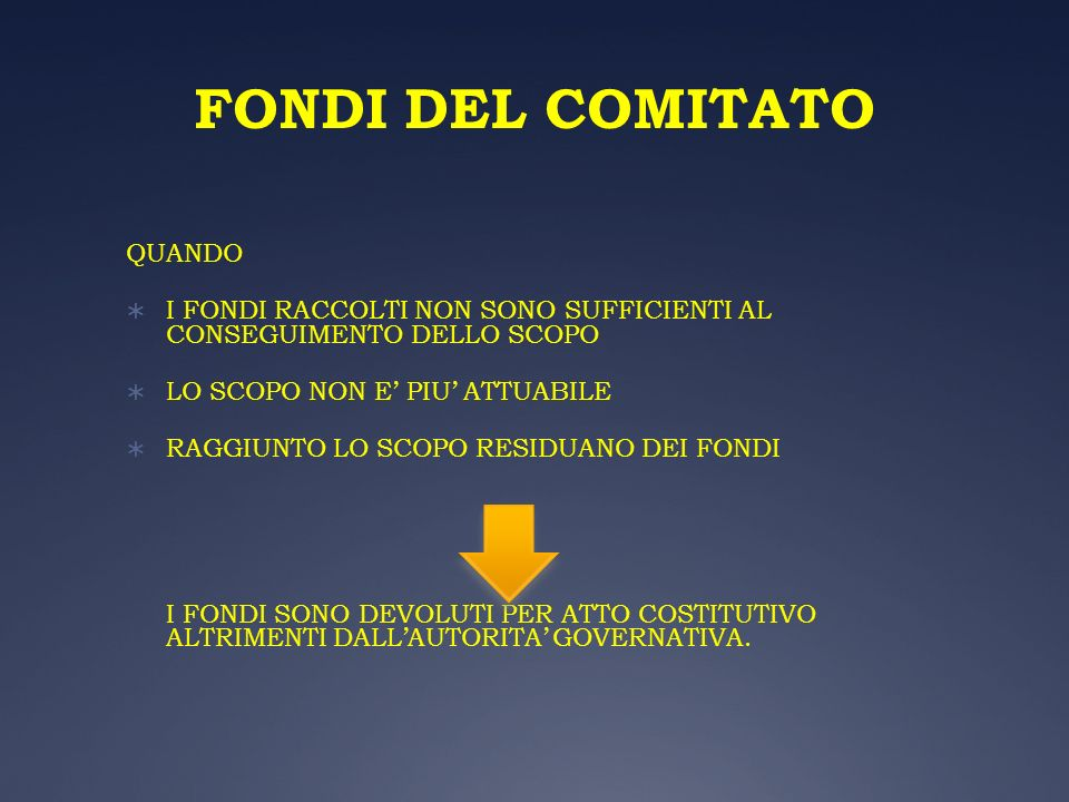 FONDI DEL COMITATO QUANDO