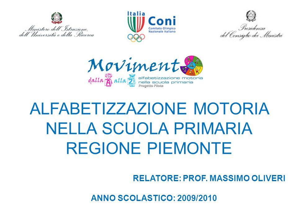 ALFABETIZZAZIONE MOTORIA NELLA SCUOLA PRIMARIA REGIONE PIEMONTE